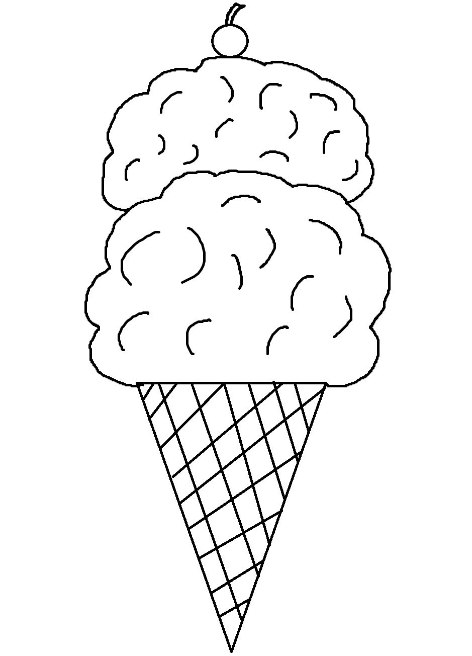 Ice cream coloring book pages - Printable Ice Cream Cone Coloring Pages