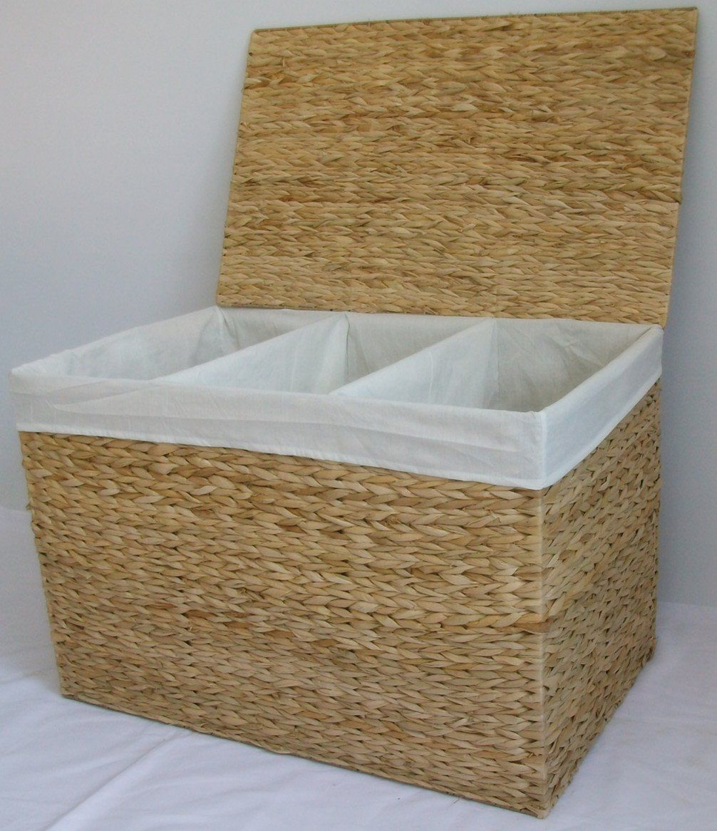 Triple Laundry Basket Sorter Storage Hamper With 3 Three