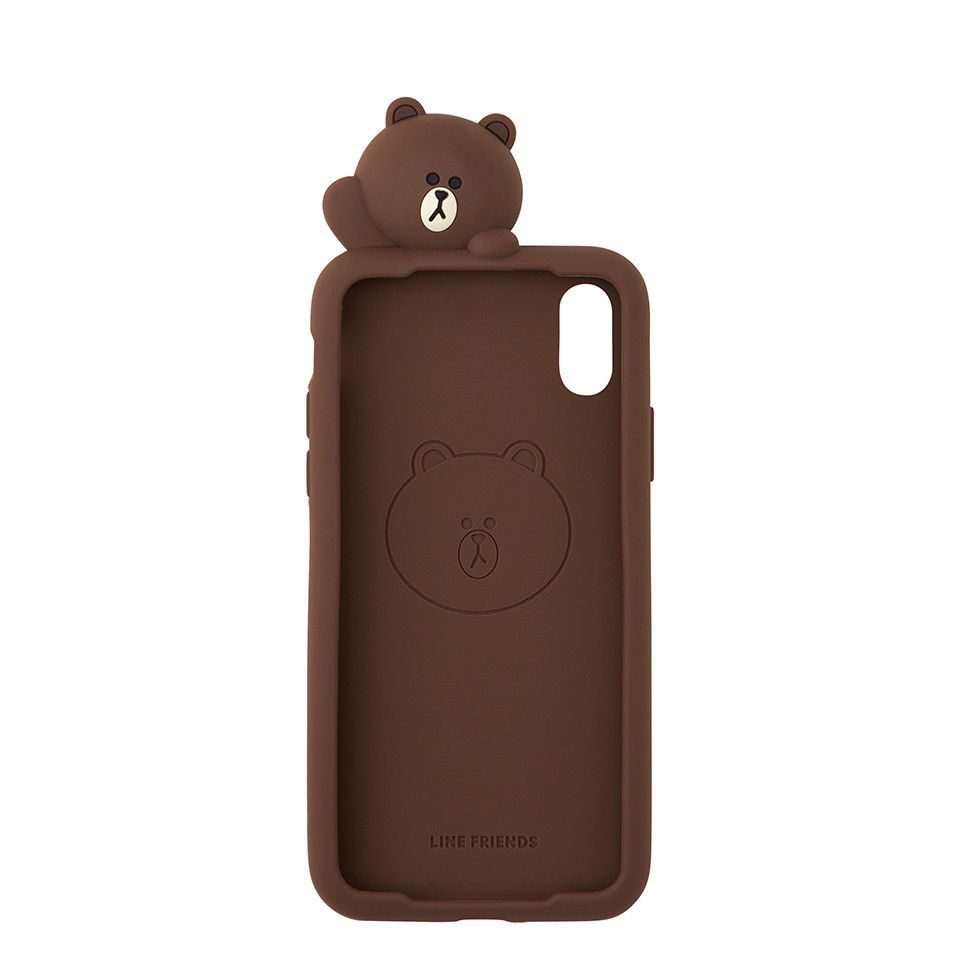 innovative design dfa6f 76641 Line Friends Store Official Goods : Brown Figure Silicone iPhone X ...