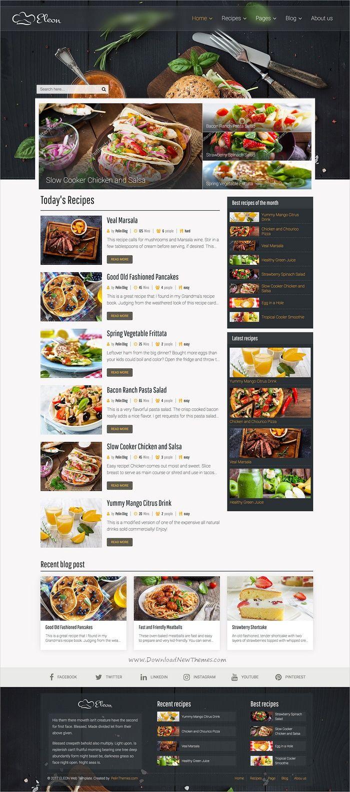 Eleon food recipes html template forumfinder Images