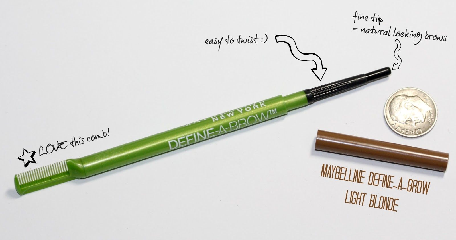maybelline eyebrow pencil blonde. This one is amazing ...