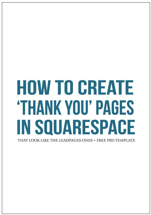 All About Leadpages Squarespace