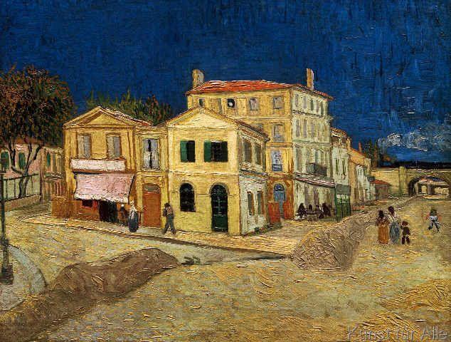 Vincent van Gogh - Das gelbe Haus (82,0 x 62,0 cm) | Gelbe Häuser ...