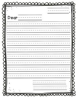 Letter Writing Template  Letter Writing Template And Teaching Ideas