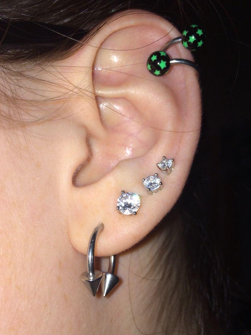 14g Open Hoop 3 Regular Earrings Helix Cartilage