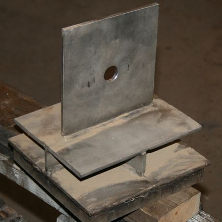 Stainless Steel Knife Plate With A Standoff Bracket Often