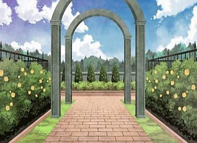 Florest And Garden Background Anime Scenery Visual Novel