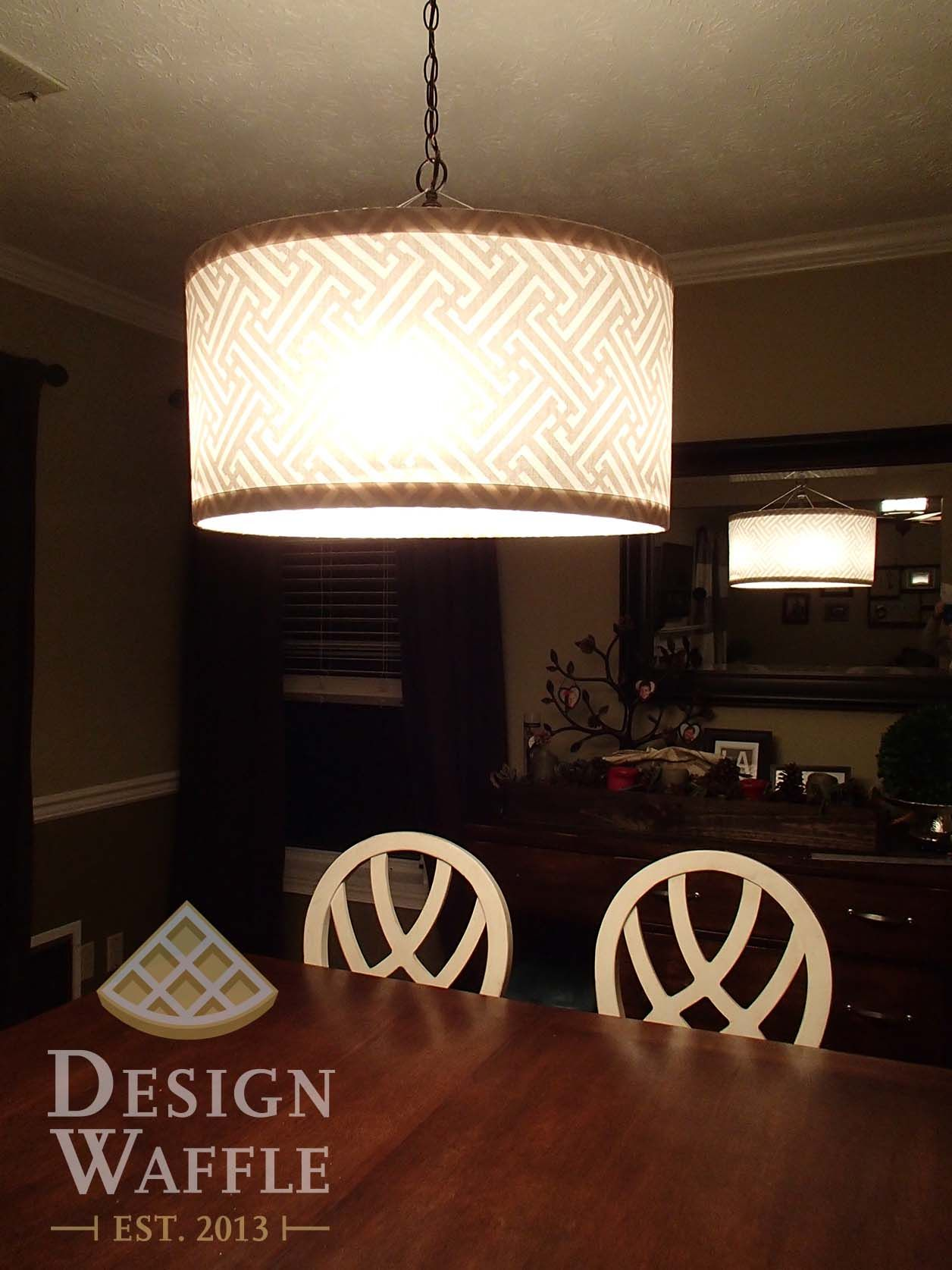 Ordinaire DIY Chandelier Drum Shade. Super Easy Directions!