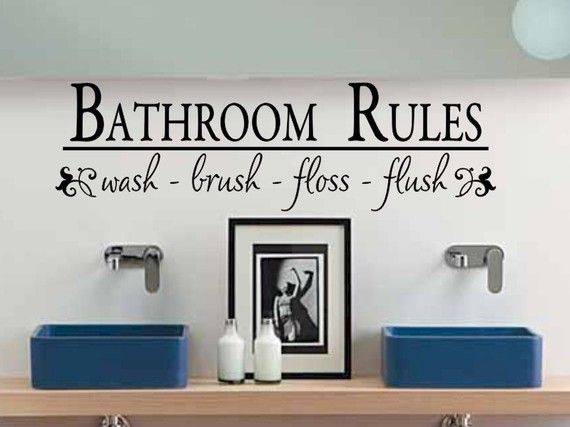 Got This For The Bathroom A Little Different Font But Cute
