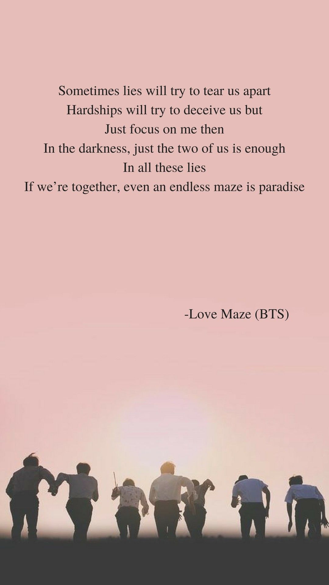 Love Maze (BTS) lyrics wallpaper