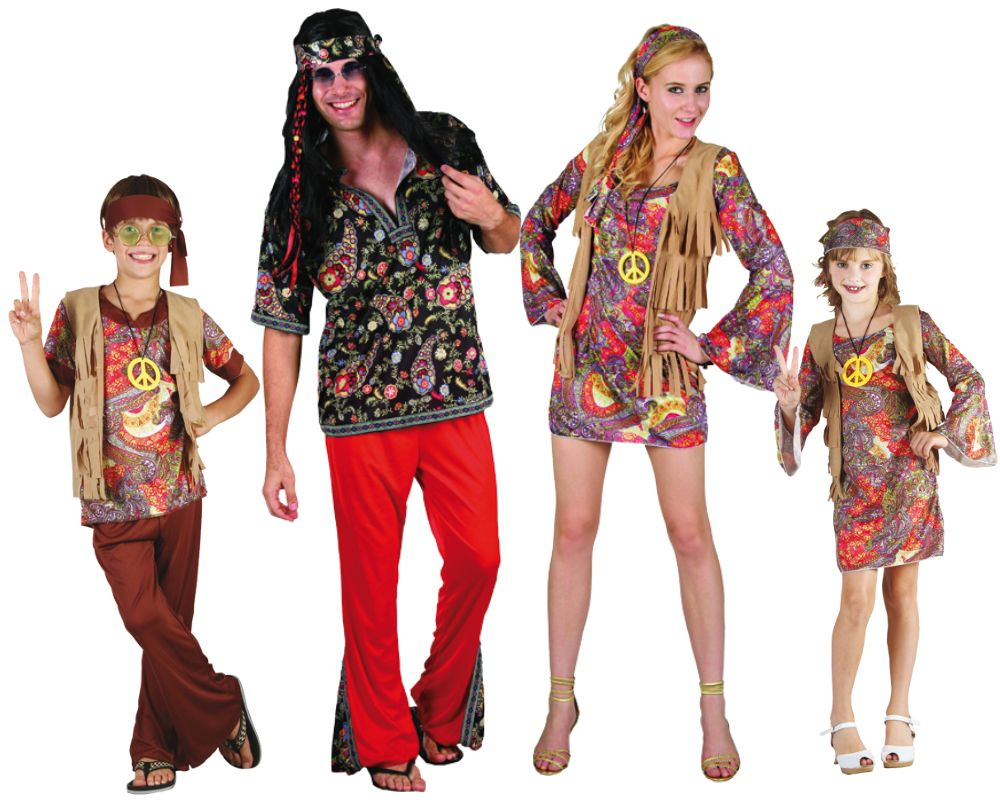 Familia de hippies disfraces carnaval for Disfraz de hippie