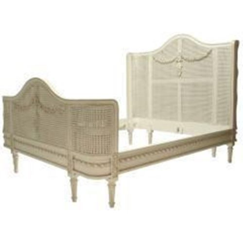 Bella French Provincial Cane Bed White Brown Affordable Luxury | eBay