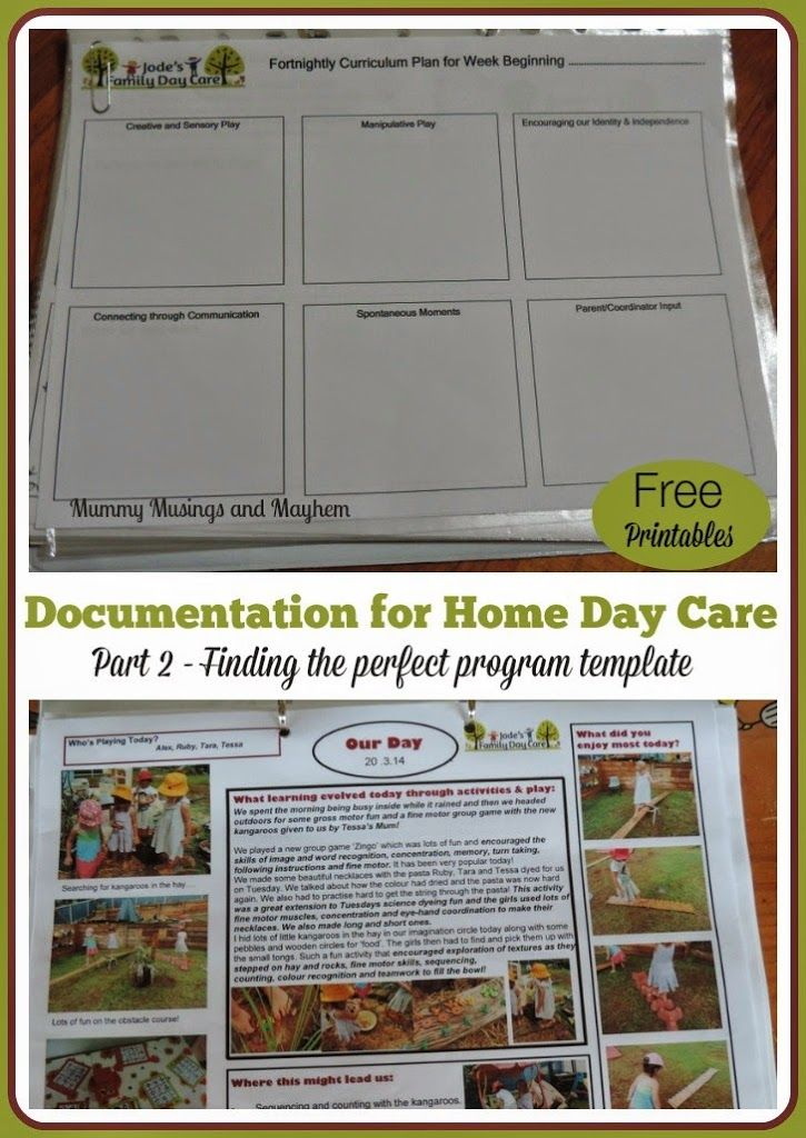 Documentation  Programming For Family Child Care  Early Learning