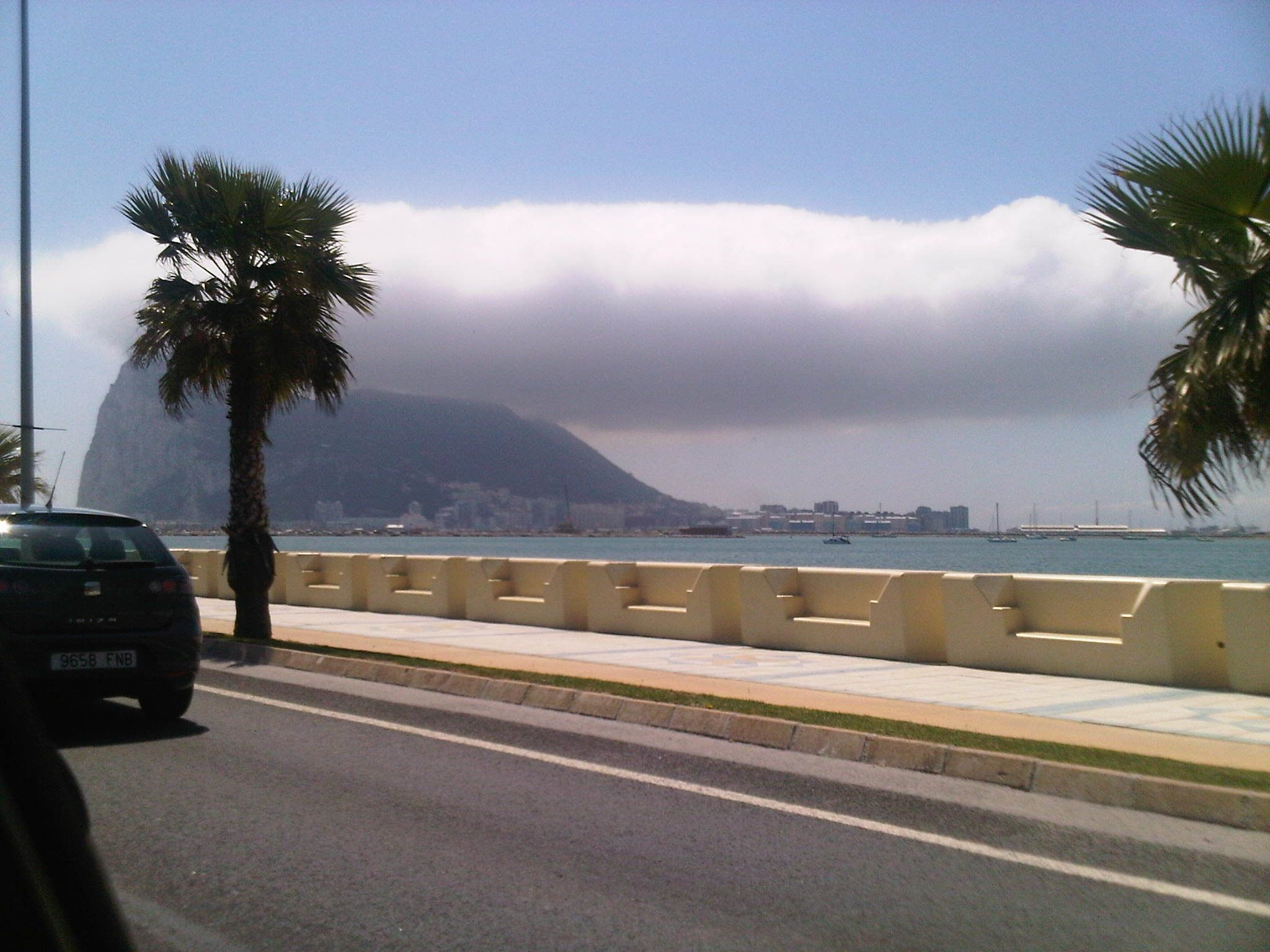 Rock of Gibraltar ~ from a distance. Take a tour car all the way up to the top!!