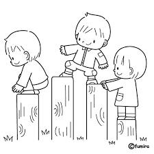 Resultado de imagen para imagenes de niños haciendo equilibrio para colorear