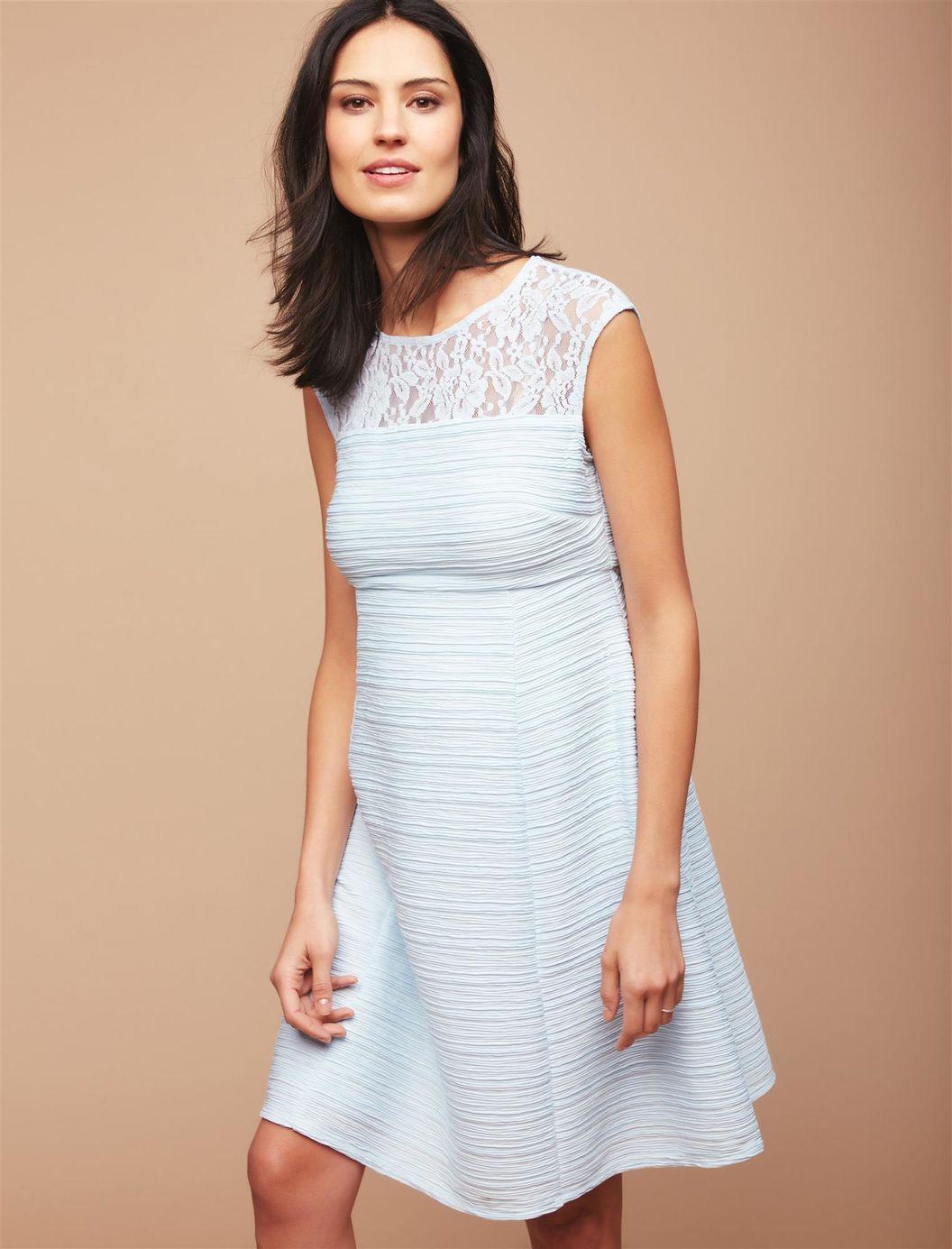 Lace dress for pregnant  Lace Detail Maternity Dress Glacier Blue  Pregnancy  Pinterest