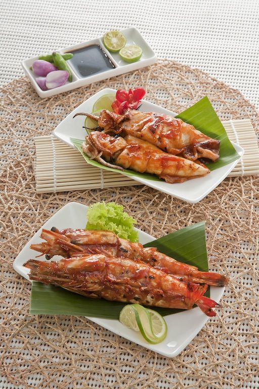 Cumi Dan Udang Bakar Jimbaran Coastal Favourite Not Just Grilled With Any Sauce Our Squids And Prawns Are Glazed With A Special Sauce You Normally Ikan Bakar