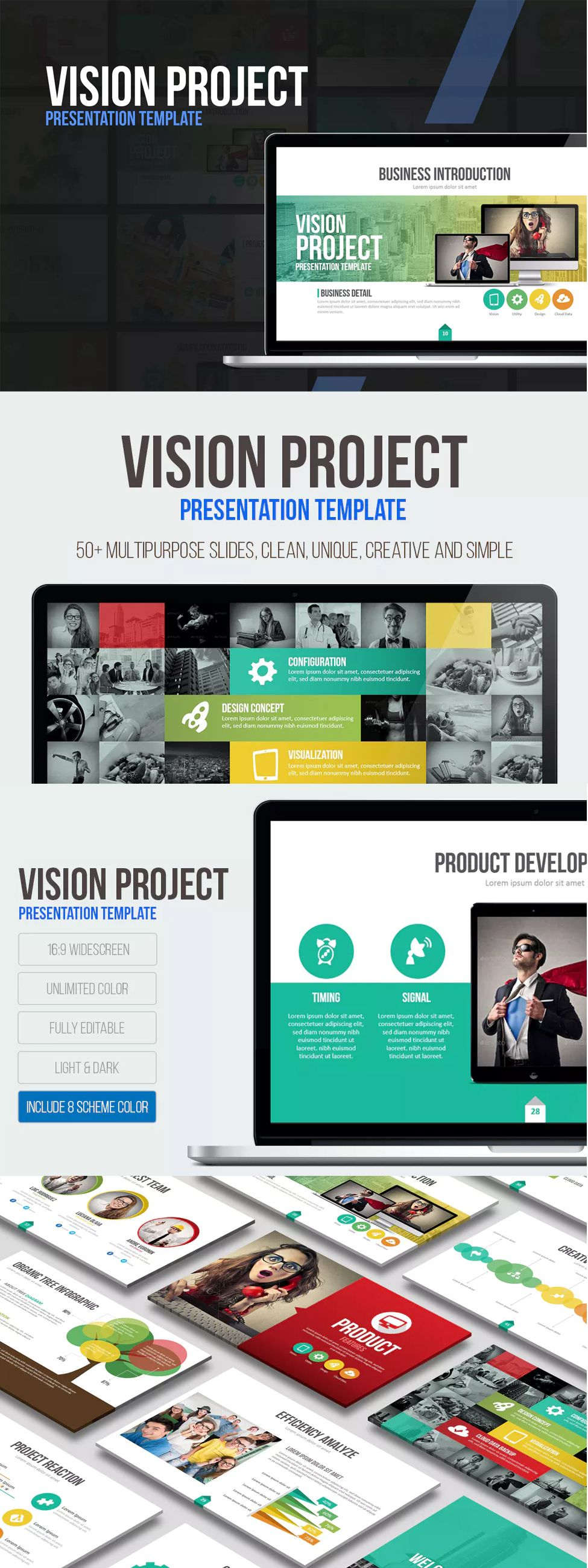 Vision Project Presentation Template  Powerpoint Presentation