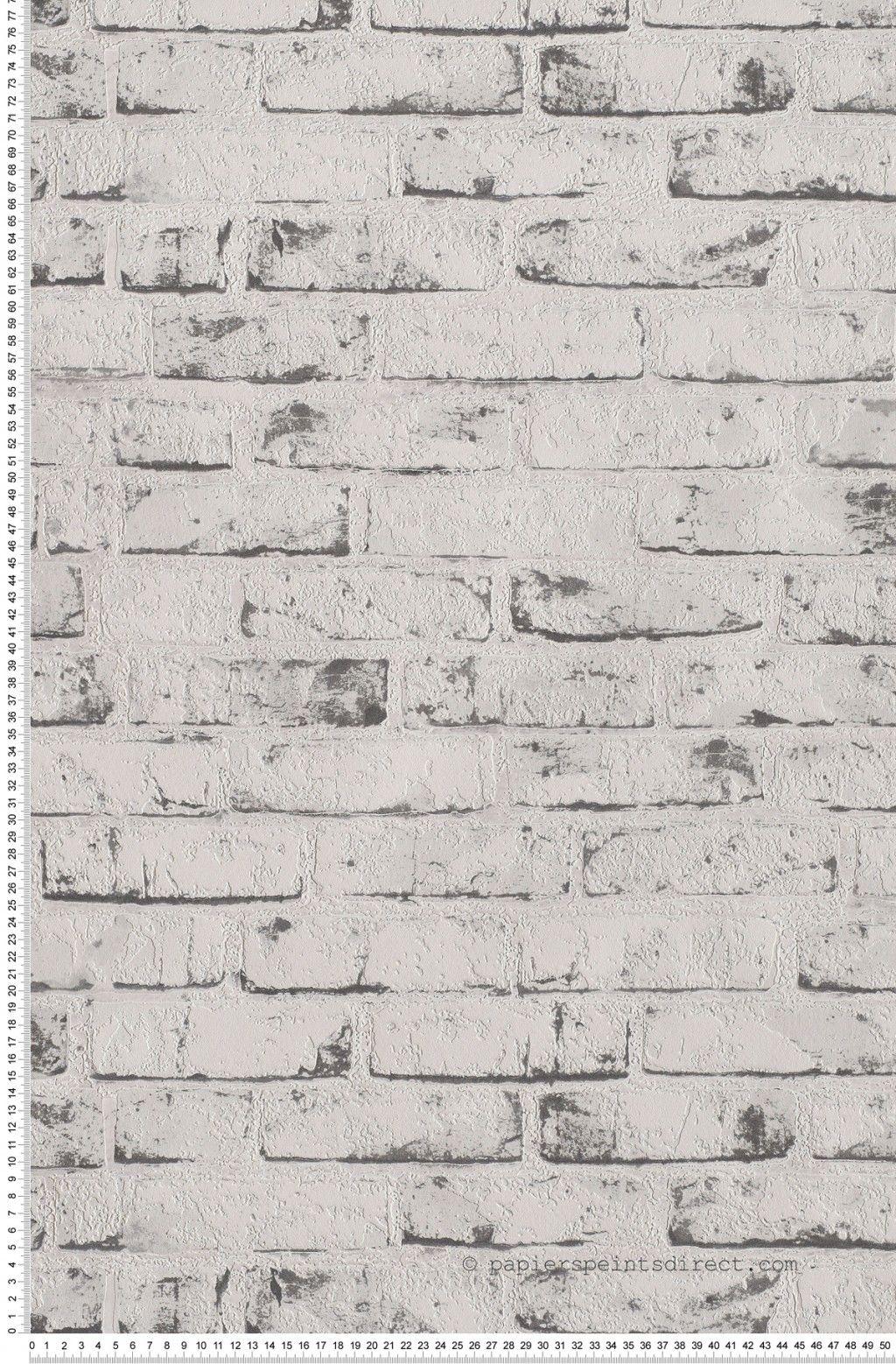 Papier peint briques blanches et grises   Papier peint brique ...