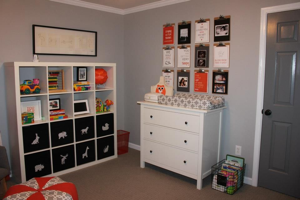 Love These Cubbies! Great Toy Storage! Cubbies: Ikea, Expedit Storage  Boxes: Ikea, Drona Decals On Boxes: Etsy, The Applique Finery