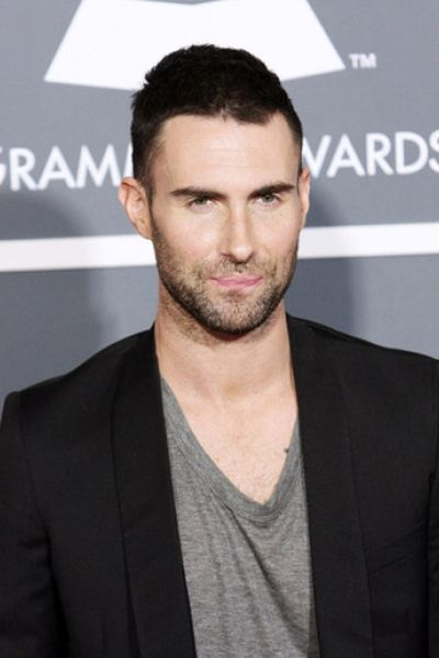 simple brown very short hair for men adam levine