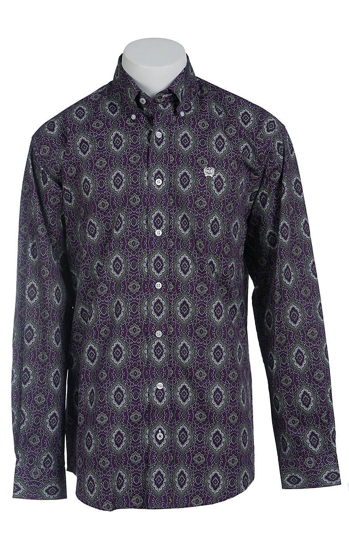 81a8369988 Cinch Long Sleeve Men s Fine Weave Shirt 1103911