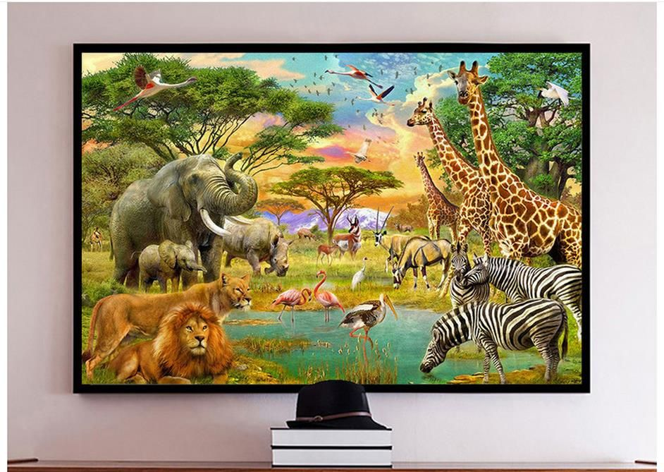 Custom 3d photo wallpaper 3d wall murals wallpaper Giraffe rhino ...