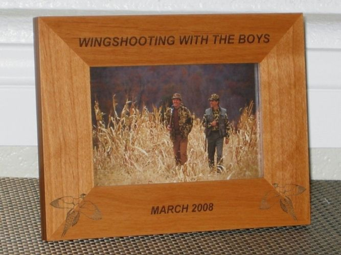 Pheasant Picture Frame - Personalized Hunting Frame - Laser Engraved ...