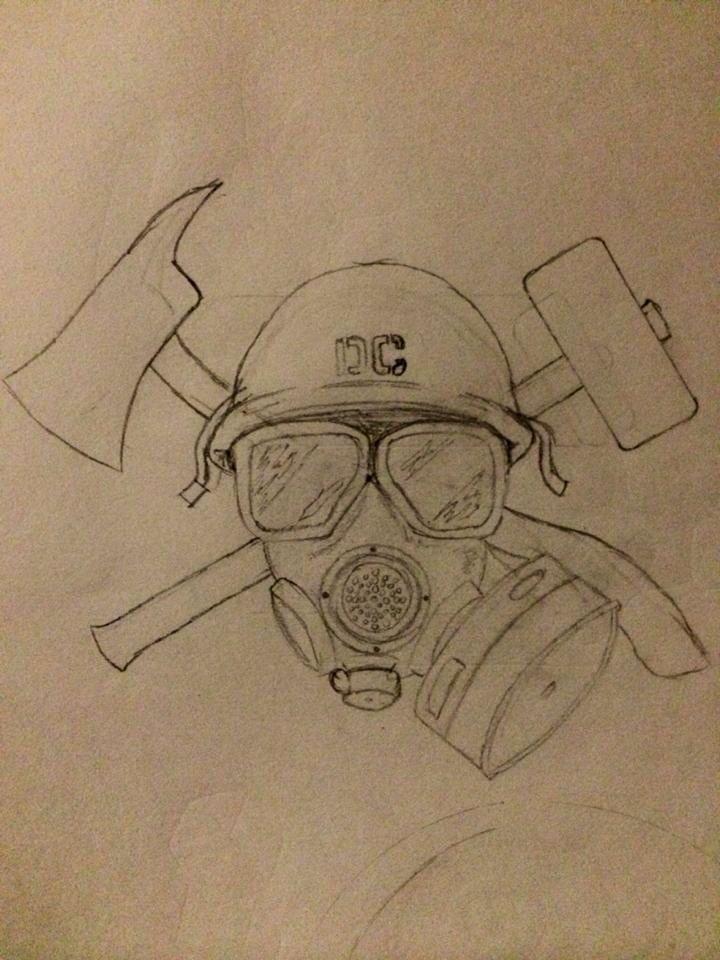 d3888ffaa4f7c My damage control man tat I want   Tattoos   Tattoos, Sketches, Tatting