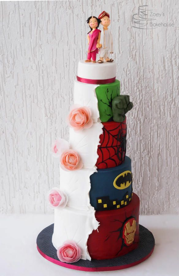 avengers wedding cake his and hers wedding cake by zoeys bakehouse 10911