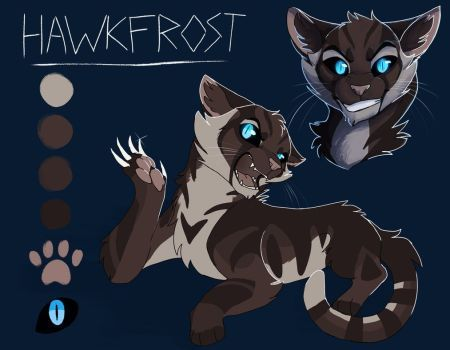 hawkfrost referenceowlsparky  warrior cats warrior