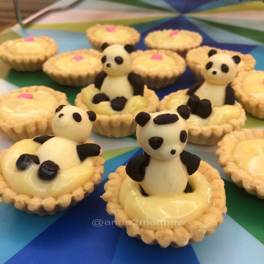 pandas having a chocolate bath this lady makes all her food look like pandas weird boredpanda