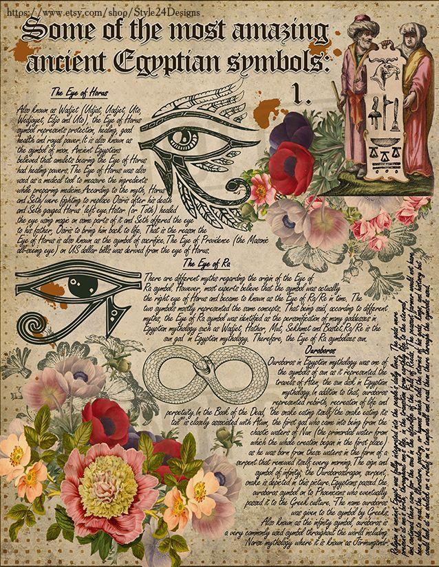 Book of Shadows Signs  Symbols Ancient Egypt Magical Spiritual Symbolism