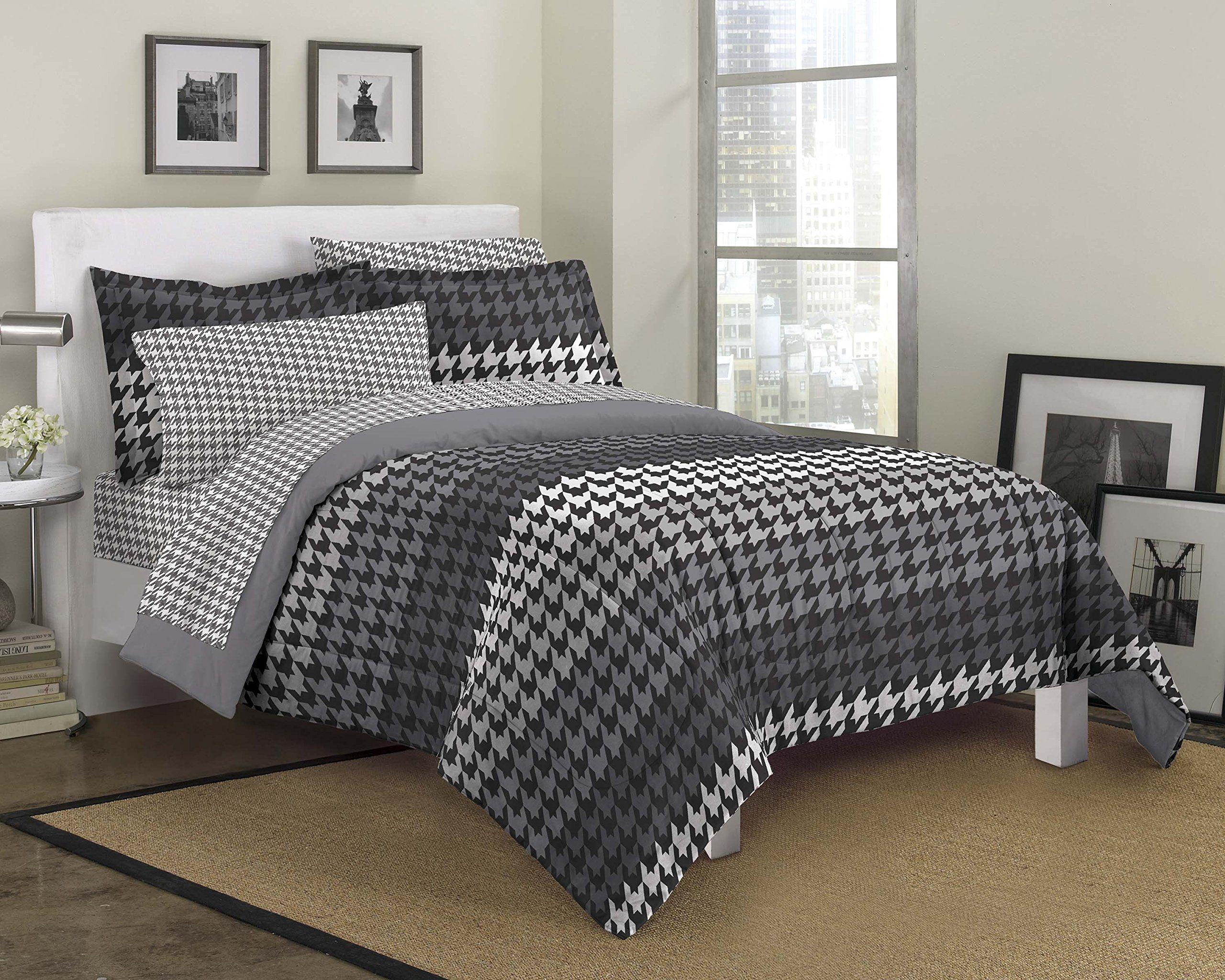 Loft Style Houndstooth Ultra Soft Microfiber Bedding