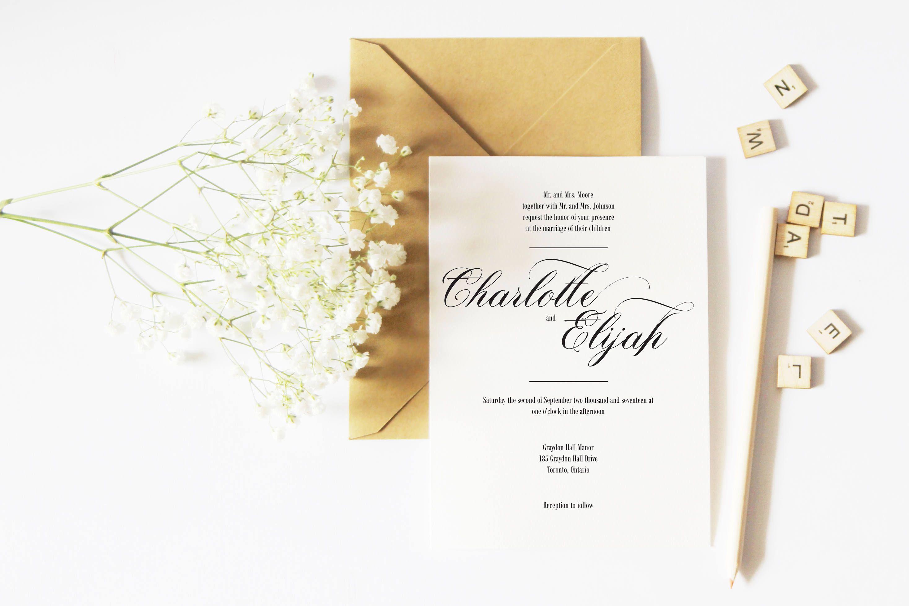 Simple Wedding Invitations - Simple Wedding Invitation Template ...