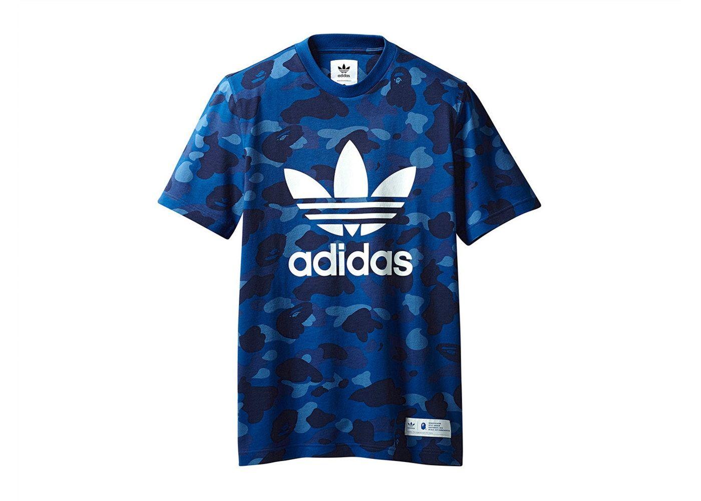 d69253a5 BAPE x adidas adicolor Tee Blue in 2019 | shose | Bape shirt, Adidas ...