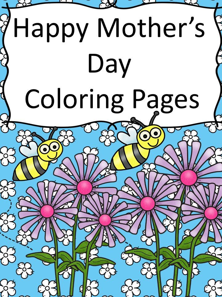 happy mothers day coloring page free and cute great for kids kindergarten reading. Black Bedroom Furniture Sets. Home Design Ideas