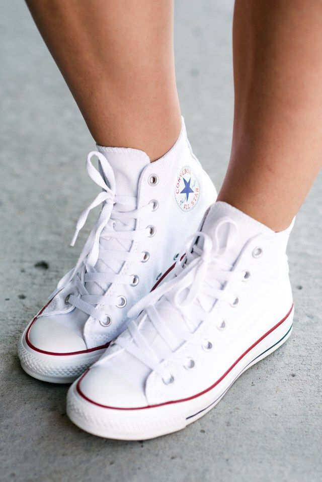 63d382d4c97 Denim Jumpsuit · Atelier · White Converse All Star Hi Tops  http   www.kicksusa.com