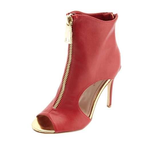 charlotte russe | Zip-Up Cut-Out Peep Toe Heels #charlotterusse #peeptoe #heels