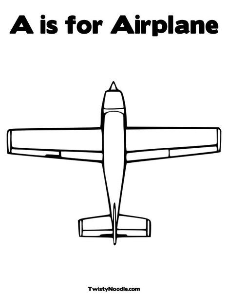 A Is For Airplane Coloring Page Airplane Coloring Pages