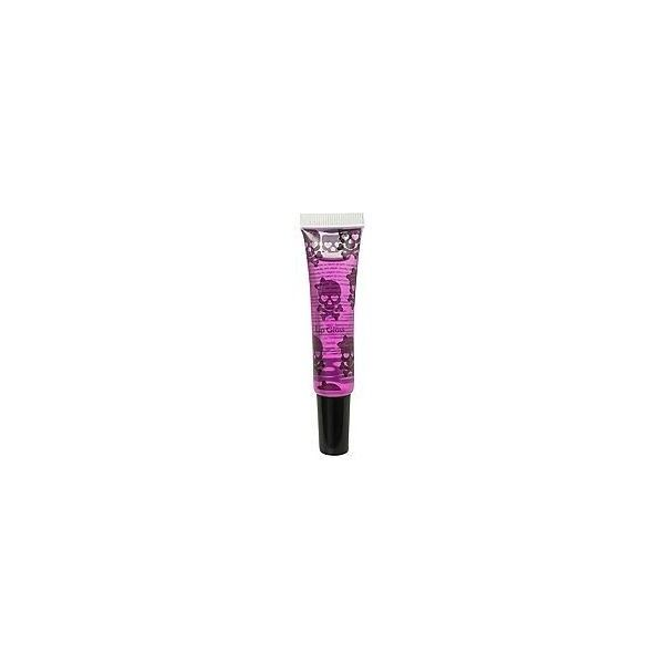 Purple Skull Grape Scented Lip Gloss   Hot Topic ❤ liked on Polyvore featuring beauty products, makeup, lip makeup, lip gloss, purple lipgloss, purple lip gloss, scented lip gloss and purple lips makeup