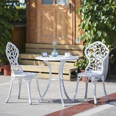 Best For Summer Ikayaa 3pcs Modern Outdoor Patio Bistro Set