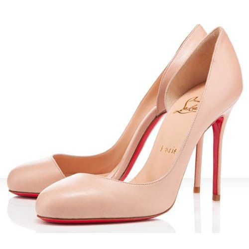 27ee4fe20765 Christian Louboutin Helmour 100mm Leather Nude
