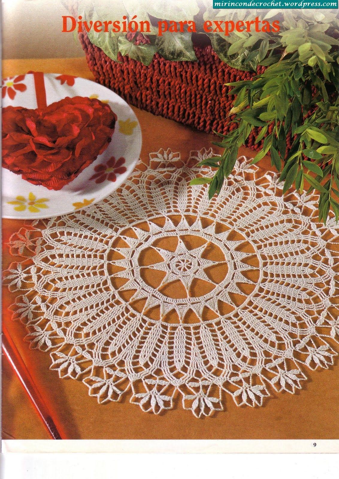 Mas de crochet artístico…!!!   Carpeta, Punto de crochet y Mas de