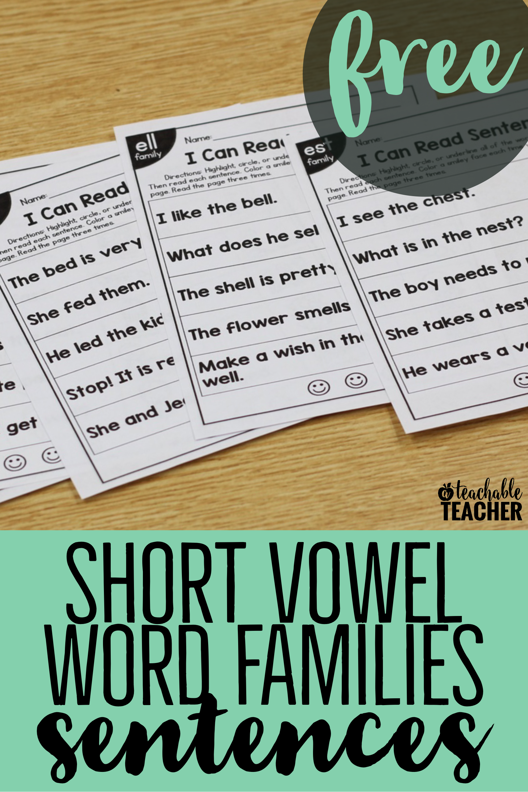 FREE Phonics Sentences Activities Bundle | Teaching Long Vowel Teams ...