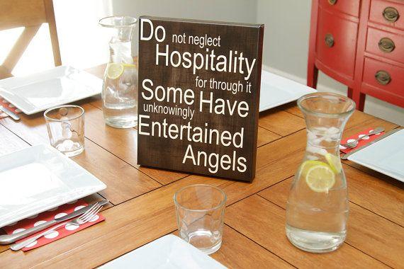 Do Hospitality 10X12 Canvas Wrap by kisstheskyshop on Etsy, $35.00