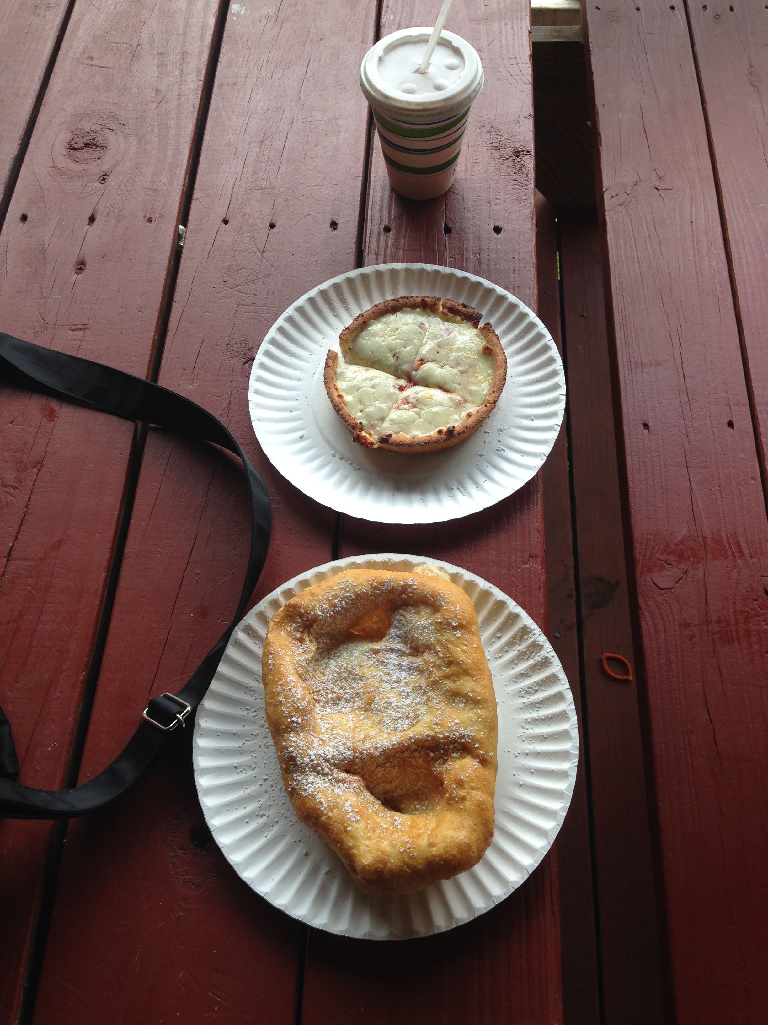 Fried Dough and pizza from the Farm upstate!!!