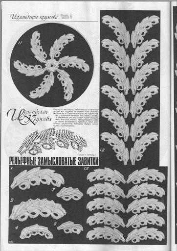 Crochet: Irish lace | OLGEMINI Irish crochet | Pinterest | Irisch ...