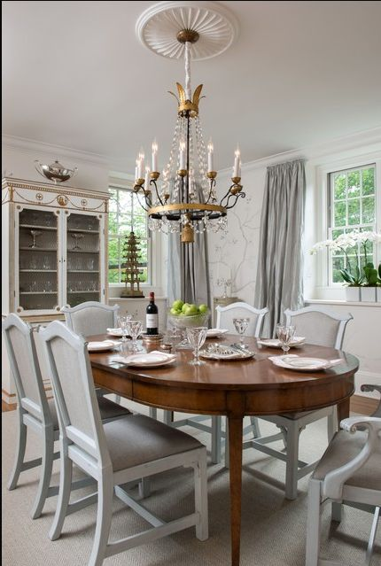 David Iatesta Directoire Dining Table Found On Houzz Room Designed By F D Hodge Interiors