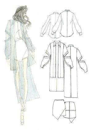 Steven Faerm Parsons Fashion Design David Garcia Fashion Illustration Fashion Design Sketches Clothes Illustration